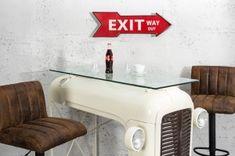 Interior :: Dekoracja ścienna Exit Way Out czerwona 55cm (Z37169)