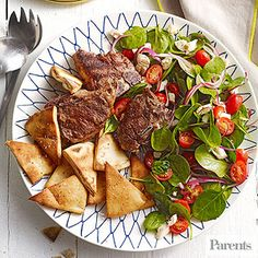 Grilled Lamb Salad (via Parents.com)