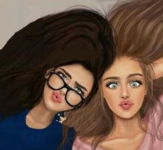 Cute bff drawings, drawings of friends, bff pictures, bff images, best fien