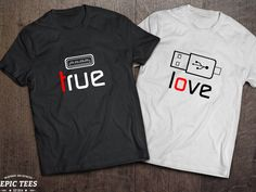 Ideas For Funny Couple Tshirts Matching Shirts Valentines Day Cute Couple Shirts, Couple Tees, Matching Couple Shirts, Family Shirts, Matching Outfits, Kids Shirts, Cool Shirts, Tee Shirts, Couple Sayings