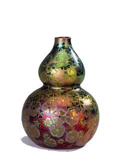 Clement Massier iridescent art nouveau little vase    eBay