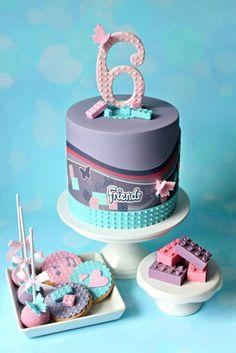 Lego girly cake                                                                                                                                                                                 More