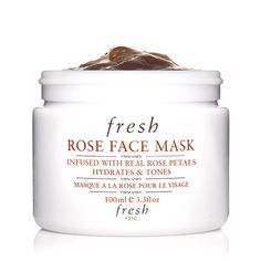 Best rosacea product: The face mask - Healthy skin: 10 products to reduce rosacea Fresh Rose Face Mask, Best Selling Makeup, Dyi, Real Rose Petals, Cucumber Mask, Exfoliant, Moisturiser, Fragrance Parfum, Peeling