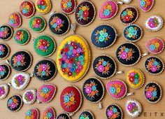 embroidery with polymer clay by zeitx