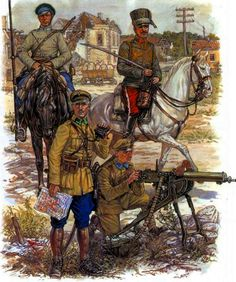 Polish Troops during the Soviet Polish War | ^ https://de.pinterest.com/eddieking58/polish-soviet-war-1919-1921/