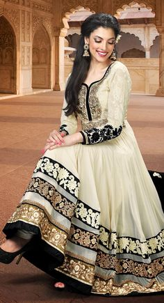 Ivory anarkali salwar ---------- too gorgeous !!!