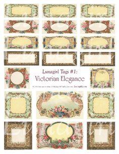 Tags: Victorian Elegance Digital Collage Sheet