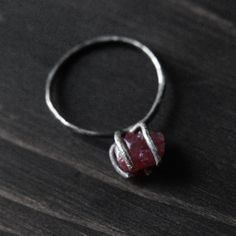 Rough Ruby Ring -- Love this for my girl someday