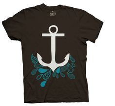 Anchored Tee Brown by PrintedPalette on Etsy, $28.00