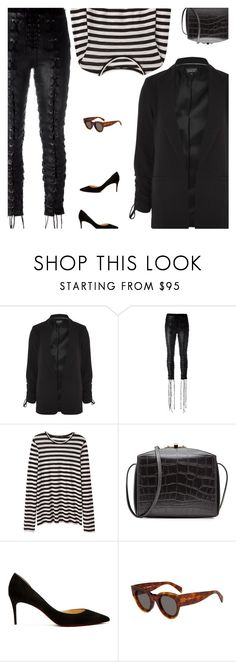 """""""Untitled #4942"""" by amberelb ❤ liked on Polyvore featuring Topshop, Unravel, Proenza Schouler, Alexander McQueen and Christian Louboutin"""