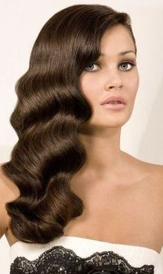 5 Vintage Long Curls for the Season Hey, girls! If you have ultra-long hair, why not go and have a vintage long curly hair for a new season? Vintage hairstyles never go out of the fashio. Vintage Hairstyles For Long Hair, Retro Hairstyles, Formal Hairstyles, Gorgeous Hairstyles, Bridal Hairstyles, Bridesmaid Hairstyles, Baddie Hairstyles, Quick Hairstyles, Ponytail Hairstyles