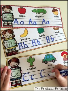 A fun way to practice handwriting and letters. Love the beginning sound pictures to help with letter sounds.