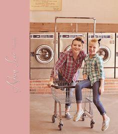 Vintage laundromat shoot. (laundry mat) Sister photography. Alison Lowe Photography