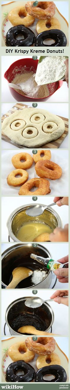 DIY Krispy Kreme Donuts, from wikiHow.com #recipe #delicious #treats