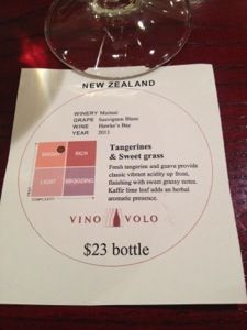 Vino Volo has a cool coaster that doubles as a clever chart to help you understand the wine in your glass.  #wine #newzealand #seatac