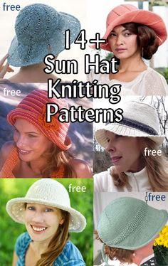 Sun Hat Knitting Patterns, many free knitting patterns at http://intheloopknitting.com/sun-hat-knitting-patterns/