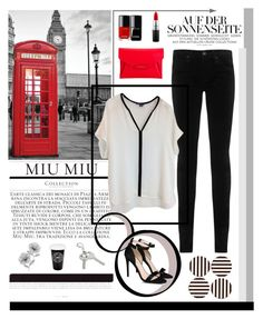 """""""Black and White"""" by lover-of-pie ❤ liked on Polyvore featuring AG Adriano Goldschmied, Givenchy, MAC Cosmetics, Vince, STELLA McCARTNEY, Henri Bendel and WallPops"""
