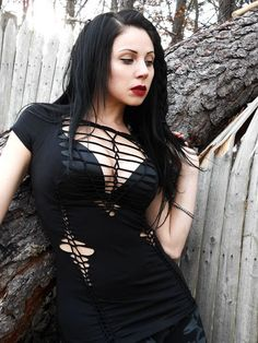 (6) Fancy - Zombie Steampunk Post Apocalyptic Metal Gothic Industrial Grunge Shredded Woven Top on Luulla