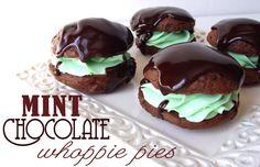 Mint Chocolate Whoopie Pies
