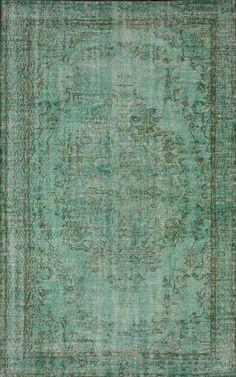 Rugs USA Vintaj Calista Vintage Overdye Turquoise Rug