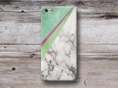 Telefoonhouders - Groen Meetkundig Marmer Hoes iPhone Samsung Sony - Een uniek product van michaelcase op DaWanda