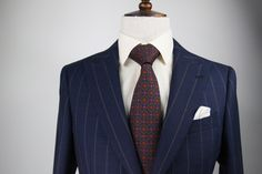 Cloth: Hesworth Traveler- AR 8225 11 Tie: Barnaby Silks BNB007A Open Weave, Blue Stripes, Suit Jacket, Fabrics, Tie, Suits, Jackets, Clothes, Fashion