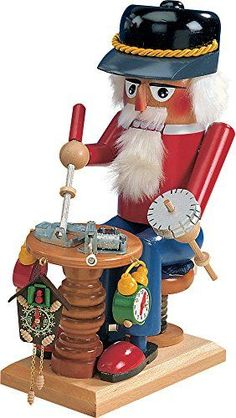 Retired Signed Karla Steinbach Clockermaker Nutcracker Plays Edelweirs *** You can get more details by clicking on the image.