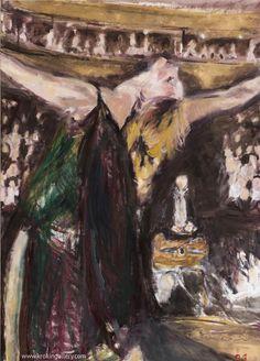 "Artist Olga Gorokhova ""Isodora Duncan"" oil painting on canvas. Moscow, Theatre, Dancing, Contemporary Art, Art Gallery, Oil, Canvas, Artist, Tela"