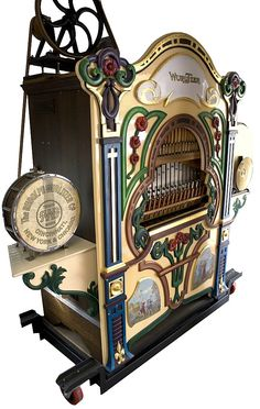 <p> Gov. File: M-04364 <br />Fully Restored Early Wurlitzer Band Organ on Stand Mint ConditionPICK UP ONLY-P-NR- <br />Asset Type: Collectible<br />Shipping: $24.95. Item may be pick up only, or require additional shipping charges due to weight or size.</p>