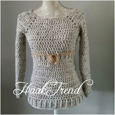 Very easy sweater. Crochet. Designed by HaakTrend