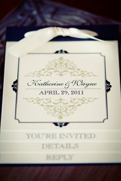 The Katherine Booklet Wedding Invitation SAMPLE by kreativees, $6.50