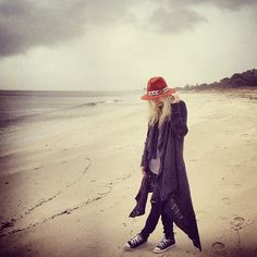 Edgy boho layers for winter. Love the rust colored wide brim by Lovely Bird. Via Spell & the Gypsy Collective.
