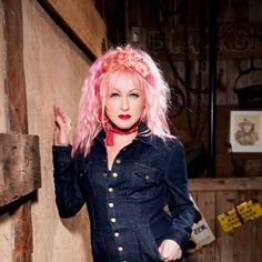 Image result for Cyndi Lauper pink hair