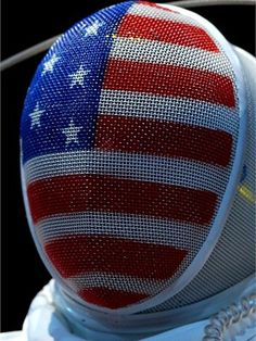 Courtney Hurley of the United States looks on against Laura Flessel-Colovic of France during the Women's Epee Individual Fencing round 32 of on Day 3.