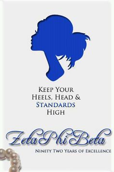 #ZphiB Keel your heels, head, and standards high!