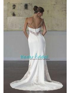 ca8bf1b32e Seductive Mermaid Beach Wedding Gown Spaghetti Straps Applique Best Selling