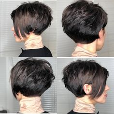 10 Easy Pixie Haircut Innovations - Everyday Hairstyle for Short Hair 2019 - 2020 Easy Everyday Hairstyle for Short Hair - Women Pixie Haircut Ideas New Short Haircuts, Short Hairstyles For Thick Hair, Haircut For Thick Hair, Short Hair With Bangs, Short Hair With Layers, Short Hair Cuts For Women, Pixie Hairstyles, Curly Hair Styles, Short Stacked Hair