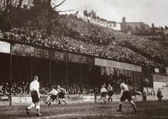 Incredible crowd scenes, Norwich vs Wednesday in the cup 1935 at the Birds Nest
