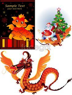 Cartoon Dragon style vector