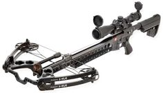 PSE cross bow put on the lower of an AR for those daryl type snipers out there.