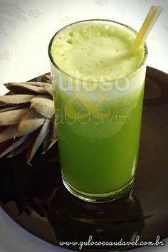 Suco de Abacaxi, Couve e Água de Coco » Bebidas, Receitas Saudáveis » Guloso e Saudável