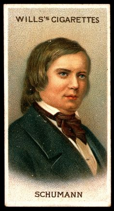 "Cigarette Card. Robert Schumann. ""Musical Celebrities A Series"""