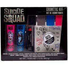 SUICIDE SQUAD Harley Quinn costume Makeup Cosmetic Kit ($9.95) ❤ liked on Polyvore featuring beauty products