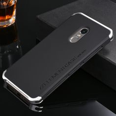 Metal Aluminum Border & Silicone Hard Back Cover Case For Xiaomi Redmi Note 4 4X Note4 Note4X 5.5'' Luxury Mobile Phone Cover