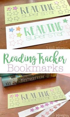 These bookmarks, made with a Cricut, encourage kids to read. Track books, chapter, minutes, or any other metric by filling in the stars.