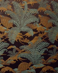 Yvonne Clarinval, textile La Terre, 1923. Cotton. Manufactured by Tassinari & Chatel, France. Via Cooper Hewitt