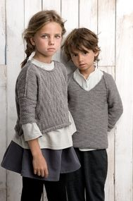 Knitwear for kids - Take a look at this collection of images that show awesome knitwear for kids, including cable sweaters, hats and more. Little Fashion, Fashion Kids, Knitting For Kids, Baby Knitting, Kid Styles, Kids Wear, Pull, Cute Kids, Knitwear