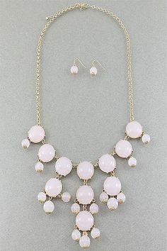 Lavender Bubble Bead Necklace