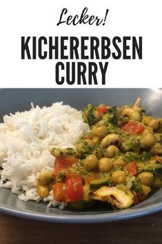 Leckeres Kichererbsen Curry mit viel Gemüse. Probiere jetzt dieses köstliche Curry Rezept aus! Kitchen Queen, Grains, Rice, Chicken, Meat, Food, Chickpea Curry, Turmeric, Curry Recipes