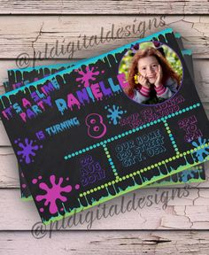 Slime Invitation - Slime Party - Slime Birthday - Slime Party Invitation by PLDigitalDesigns on Etsy